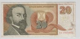 YOUGOSLAVIE 20 Dinara 1994 P150 VG - Yougoslavie