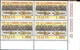 74877) ITALIA-QUARTINA-4º Centenario Della Traslazione Della Sacra Sindone A Torino - 8 Settembre 1 -MNH**SERIE COMPLETE - 6. 1946-.. Repubblica