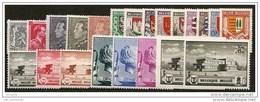 BELGIE 1940 Xx VOLLEDIG JAAR / L'ANNEE COMPLETE COB . 527/546 - 22 W/V + 2 BL COTE: 119.50 EURO - Bélgica
