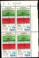 74878) ITALIA-QUARTINA-30º Anniversario Della Costituzione Della Repubblica - 2 Giugno 1978 -MNH**SERIE COMPLETE - 6. 1946-.. Repubblica