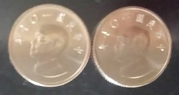 2x NT$1.00  2018 Taiwan Rep China 1 Yuan Chiang Kai-shek CKS Coin - Chine