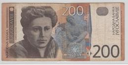 YOUGOSLAVIE 200 Dinara 2001 P157a VG - Yougoslavie