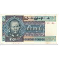 Billet, Birmanie, 5 Kyats, 1973, Undated (1973), KM:57, B - Myanmar