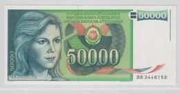 YOUGOSLAVIE 50000 Dinara 1988 P96 UNC - Yougoslavie