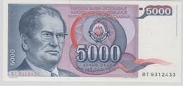 YOUGOSLAVIE 5000 Dinara 1985 P93a UNC - Yougoslavie