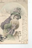 CPA Illustrateur Vienne Signée Wichera N°156 Femme Avec Son Chien - Wichera