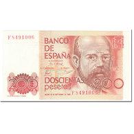 Billet, Espagne, 200 Pesetas, 1980, 1980-09-16, KM:156, NEUF - [ 4] 1975-… : Juan Carlos I