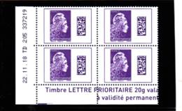 Marianne L'engagée Coin Daté 22.11.18  TD 205 / Datamatrix International  Y. Digan Et E. Catelin - Dated Corners