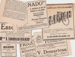 HERVE BATTICE 1951 Coupures De Presse Publicités - Publicités