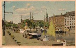 CPSM   DANEMARK---BORSKAJEN---THE EXCHANGE EMBARKMENT - Danemark