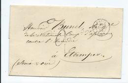 Lettre De Paris Pour Etampes 1850 - Postmark Collection (Covers)