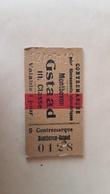 Ticket Suisse - Montbovon Gstaad II. Classe - 1912 - état : Comme Sur Les Photos - Railway