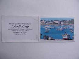 CALENDRIER De Poche 1989 Peinture Port Breton De Bénodet JARDI FLORE SOMOJAAV S.MARCHAND à AVALLON 89 - Calendars