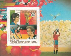 1983 Central African Republic World Football Championship Spain Souvenir Sheet MNH - Centraal-Afrikaanse Republiek