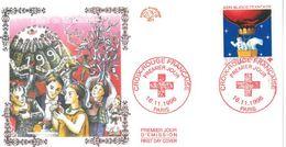 FDC Croix Rouge Française Fêtes De Fin D'année (75 Paris 16/11/1996) - FDC