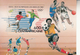 1983 Central African Republic Los Angeles Olympics Souvenir Sheet MNH - Central African Republic