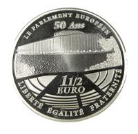 1 1/2 Euro - France - 2008 - 50 Ans Du Parlement Européen - Argent - BE - 18,92gr. - - France