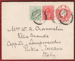 Gran Bretagna1908 Letter Card 1p. + 1 * 1/2 P 1909 To Pistoia Italy VF/F - Interi Postali