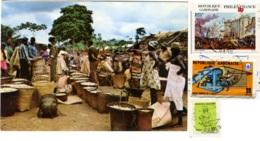 GABON  REPUBLIQUE GABONAISE  NGOUNIE  Marchè D'arachides  Nice Stamps Philexfrance 89 - Gabon