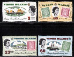 Iles Vierges 1966 Yvert 167 / 170 ** TB Bord De Feuille - Iles Vièrges Britanniques