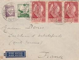 Portugal Lettre COSTA DA CAPARICA 8/7/1942 à Denis Castelnau D' Estrefonds Haute Garonne Passe Lisboa Aero - 1910-... République
