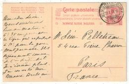 Entier Carte Postale 10c Rouge Type Buste D'Helvetia De St-Moritz Pour Paris - 1909 - Entiers Postaux