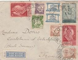Portugal Lettre COSTA DA CAPARICA 2/7/1942 à Denis Castelnau D' Estrefonds Haute Garonne Passe Lisboa Aero - 1910-... République