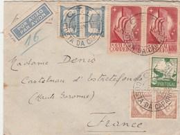 Portugal Lettre COSTA DA CAPARICA 27/6/1942 à Denis Castelnau D' Estrefonds Haute Garonne Passe Lisboa Aero - 1910-... République