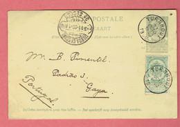 Entier Postal N°27 Et 56 Belles Obl Turnhout 1900 Vers Lisboa Central Au Portugal - Turnhout