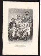 GRAVURE 18X28....la Famille Royale Aux Iles Fidji....réf  040119019 - Documents Historiques