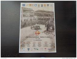 Affiche POSTER PLAKAT ORIGINALE GIRO SICILIA TARGA FLORIO 50X70 TRIBUNE CERDA - Manifesti