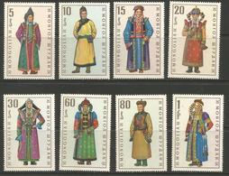Mongolia - 1969 Costumes  MNH **    Sc 524-31 - Mongolia