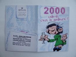CALENDRIER De POCHE 2000 Gaston LAGAFFE Hallmark MAISON De La PRESSE Place Vauban à AVALLON 89 - Calendarios