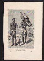 GRAVURE 18X28....CHEF ET PORTEUR KROU...réf  040119024 - Documents Historiques
