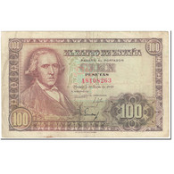Billet, Espagne, 100 Pesetas, 1948, 1948-05-02, KM:137a, TTB - 100 Pesetas