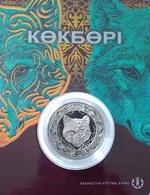 """Kazakhstan 100 Tenge 2018 """"Kokbori, Blue Wolf"""" CoinCard UNC - Kazakhstan"""