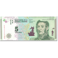 Billet, Argentine, 5 Pesos, 2015, Undated (2015), KM:359a, NEUF - Argentine