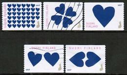 2017 Finland Hearts, Complete Set Used. - Finlande