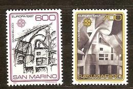 Saint-Marin San Marino Cept 1987 Yvertn° 1148-1149 *** MNH Cote 30,00 Euro Europa - Neufs