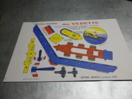 Découpage Ancien Visuel Divers   Véhicules Trains Avions Maison Personnages  Etc ... - Jouets Anciens