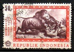INDONESIE. N°524 Oblitéré De 1967. Lion. - Roofkatten