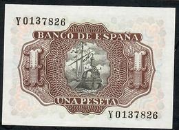 SPAIN P144 A1 PESETA 1953 LETTER Y   UNC. - [ 3] 1936-1975 : Régence De Franco