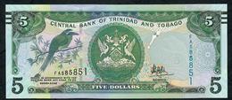 TRINIDAD AND TOBAGO P55b 5 DOLLARS 2006 (2017) #FA  Or #EU Signature 10 Mark For Blind - Trinidad & Tobago