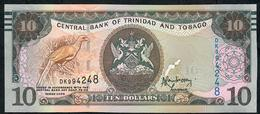 TRINIDAD AND TOBAGO P57a 10  DOLLARS 2006 (2017) #DK Signature 9 UNC. - Trinité & Tobago