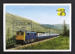 Dominica 1999** Mi.Bl.375. Train, MNH [13;192] - Eisenbahnen