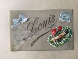 LOUIS - Carte Celluloïd ( Avec Découpi Et Ruban ) - Voornamen