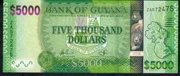 GUYANA P40a 5000 DOLLARS 2013 #ZA REPLACEMENT Signature 14 (first Signature ) UNC. - Guyana