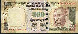 INDIA P99e1 500 RUPEES 2009 # 8GD  NO LETTER Signature Subarrao VF+  NO P.h. - Inde