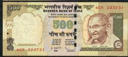 INDIA P99e1 500 RUPEES 2009 # 4GN  NO LETTER Sign.20  VF+  NO P.h. - India