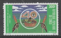 TIMBRE NEUF DU CONGO - 40E ANNIVERSAIRE DE LA F.A.O. N° Y&T 816 - Contro La Fame
